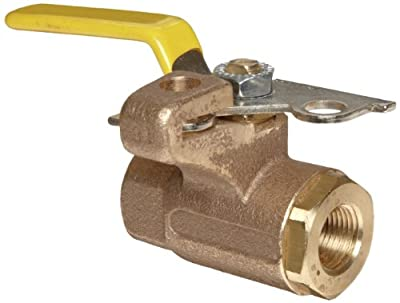 "Apollo 75-100 Series Bronze Ball Valve, Two Piece, Inline, Lockable Lever, 1"" NPT Female from Conbraco Industries"