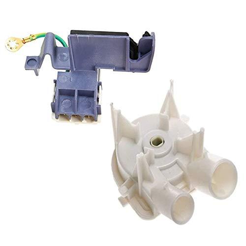 durable Interruptor de cubierta de la máquina de lavado 8559331 Bomba de drenaje de la lavadora con 8318084 Lavadora Tapa Interruptor de 3 pines Roper Washer Fit para Whirlpool Kenmore 3 Wearable