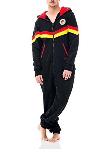 Zipups Mono-Pijama World Deutschland Negro/Rojo/Amarillo L