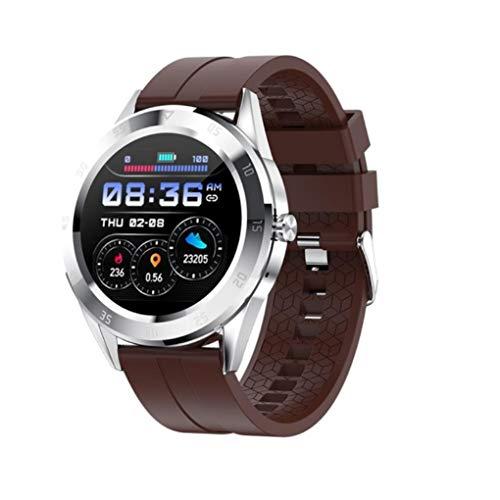 GTJXEY Smart Watch Bluetooth Anruf Sport Fitness Band Herzfrequenz-Blutdruck-Test Männer Musik-Uhr-Frauen,D