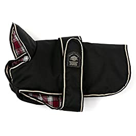 Outhwaite Padded Belly Dog Coat with Tartan Lining,