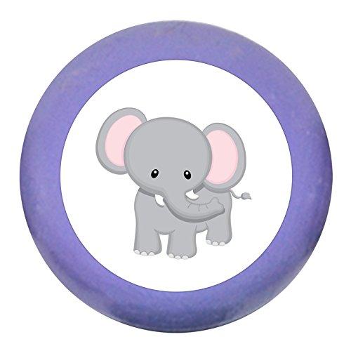 """Türgriff Möbelknauf""""Elefant"""" lila Holz Buche Kinder Kinderzimmer 1 Stück wilde Tiere Zootiere Dschungeltiere Traum Kind"""