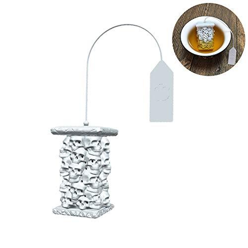 Knowooh Silikon Teesieb Kreative Lustige Form Tee Sieb Schädelturm Teefilter Herbal Spice Diffusor Faultier Tee-Ei für Lose Tee