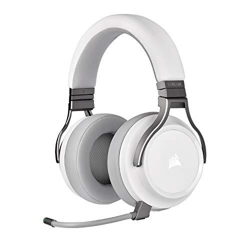 CORSAIR Virtuoso RGB Wireless High-Fidelity Gaming Headset, White - Works with PC, macOS, etc.