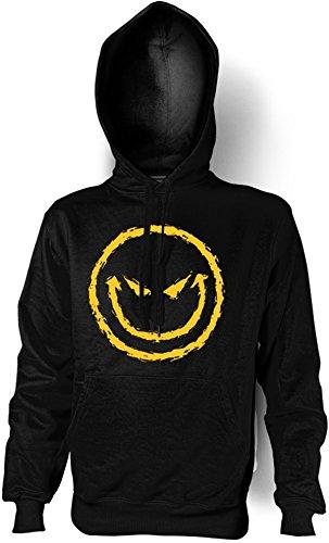 Halloween Horror Grusel Kapuzen Shirt Bad Smilie in schwarz