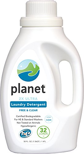Planet 2x HE Ultra Laundry Liquid Detergent, 32-Loads, 50-Ounces...