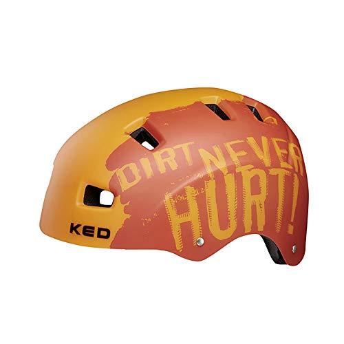 KED 5Forty Helm Kinder Dirt orange Kopfumfang L | 57-62cm 2020 Fahrradhelm