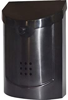 Ecco E5 Wall Mounted Mailbox, Black Pewter Plated, Small