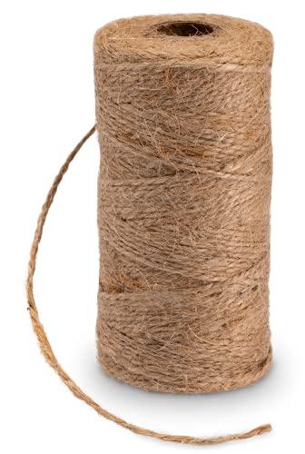 TREUEWERK 100 metros de cinta de yute | Cordón de alta calidad para manualidades - Hilo de yute natural mejorado para decoración - Cordón de embalaje de yute