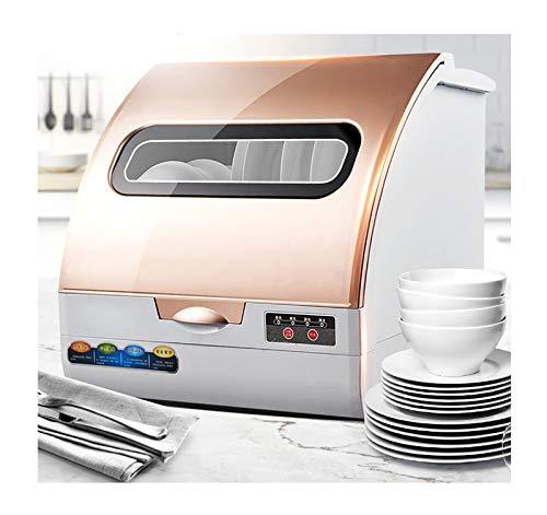 RHSMW Lavavajillas de Encimera, hogar Pequeño Integrado Plato Inteligente Lavadora, desinfección automática de Almacenamiento Mini Lavavajillas, 6 Sistemas Capacidad