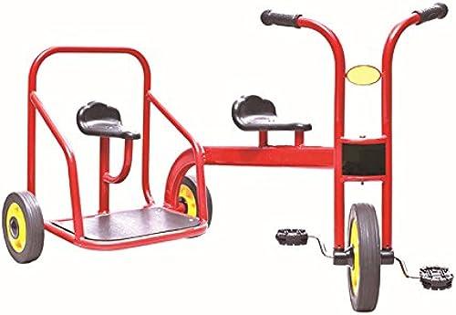QXMEI Kinder Dreir r Doppel Pedal fürr r Spielzeug Autos Pedal ZWeißtzer Kind Autos 3 bis 6 Jahre Alt (Rot)