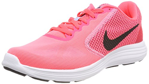 Nike Damen WMNS Revolution 3 Traillaufschuhe, Pink (Hot Punch/Black/Aluminum/White 602), 43 EU
