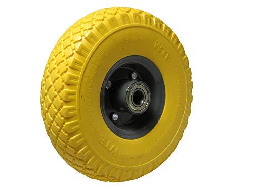 Ersatz-Reifen PU-Schaum 260mm gelb 120 kg für Schubkarre Sackkarre Reifen Rad 3.00-4 auf Stahlfelge