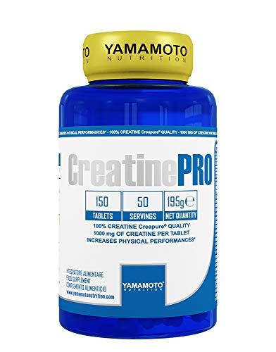 Yamamoto Nutrition Creatine PRO Creapure Quality integratore alimentare di creatina monoidrato qualità Creapure 150 compresse