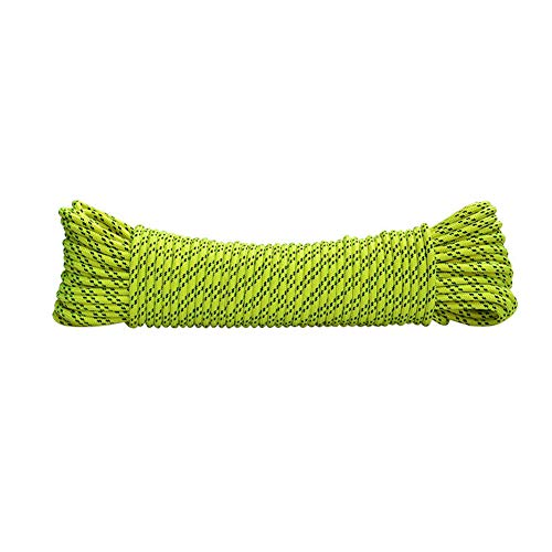 Climbing Auxiliary Rope, Clothesline, Umbrella Rope - Diameter 6 Mm, Camping Tent Bundled Rope Grab Knot Rope green-10m