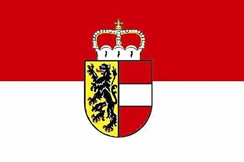 U24 Aufkleber Salzburg Flagge Fahne 8 x 5 cm Autoaufkleber Sticker