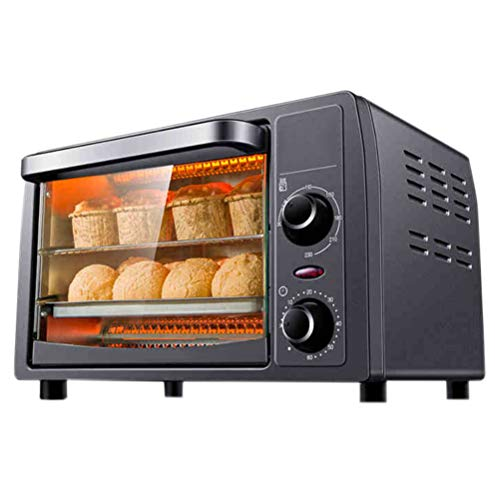 13L Mini Oven, Multifunctional Large-Capacity Circulating Heating, Convection Toaster Oven, Explosion-Proof Glass Door 1050W Oven Mitt
