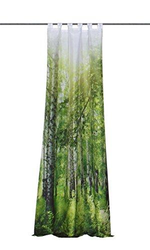 Home Fashion Schlaufenschal, Grün, 245 cm x 120 cm