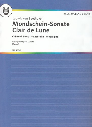 Mondschein-Sonate: Erster Satz. Transkribiert für Gitarre. op. 27/2. Gitarre.