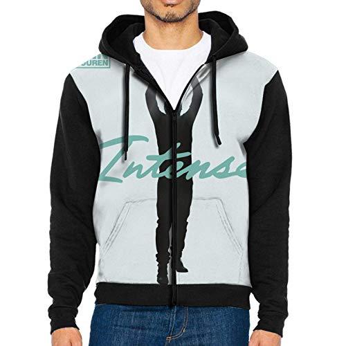 Armin Van Buuren Intense - Sudadera con capucha y cremallera completa, color negro