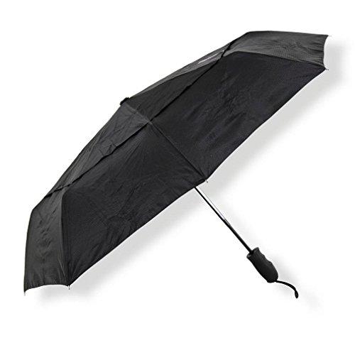Lifeventure Trek Umbrella - Medium (Black) Parapluie Unisex-Adult
