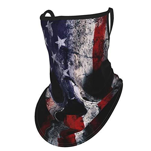 Ninjz8 American Flag Punisher Skull Bandanas Gesichtsmaske Wiederverwendbare Tuch Halstuch Damen Herren Hals Gaiter Headwrap Face Scarf Outdoor Sport