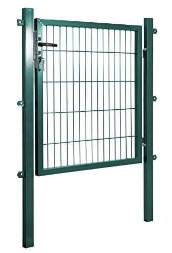 Arvotec Gartentor, grün, 200x50, BxH:1200x1600mm - Pfosten inkl. passenden Anschlussstücken für Stabmattenzaun - inkl. Montagematerial und Schlüsseln