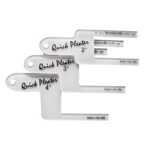"Home Sewing Depot Quick Pleater - Large Set of 3 - Includes 2"", 3"", and 4"" Pleater"