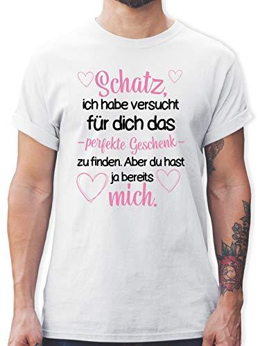 Valentinstag S - Weiß L190 - Tshirt Herren und Männer T-Shirts