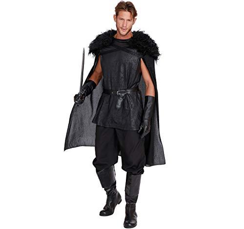 Dreamgirl Heren kostuum middeleeuws King of Thrones zwarte film carnaval M, L XL, XXL (XXL)