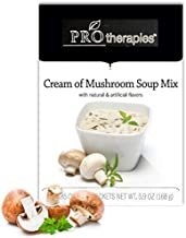 High Protein Soup - Low Carb Cream of Mushroom Diet Soup Mix (15g Protein) - 7 Servings/Pack