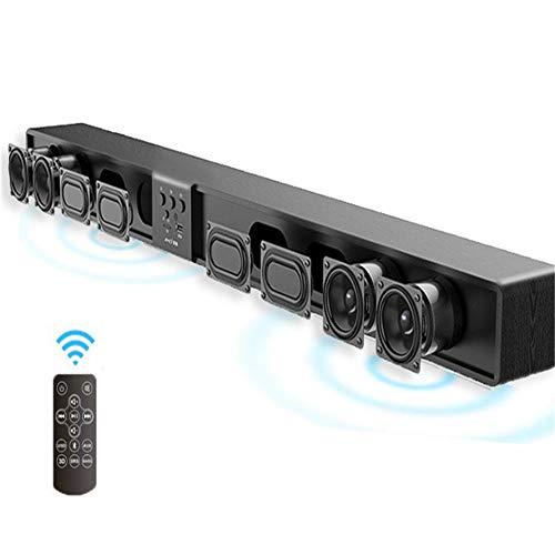 KAR 5.1 Altavoces de Sonido Envolvente de Cine inalámbrica Barra de Sonido de Madera con Soporte Remoto TF USB RCA 60W