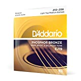 D'Addario Phosphor Bronze Acoustic Guitar Strings, Bluegrass, 12-56 (EJ19)