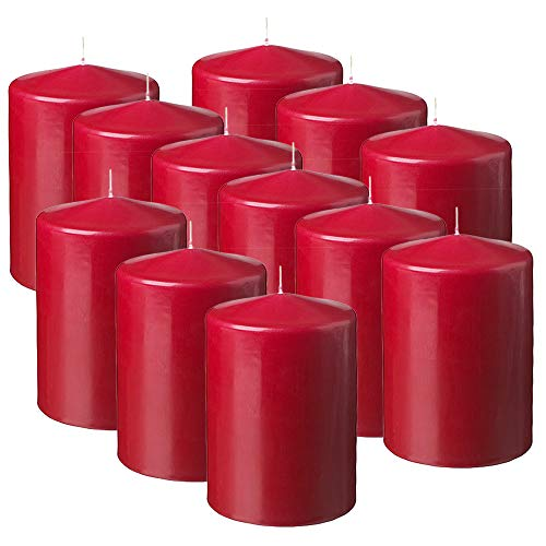 MGE - Velas Perfumadas - Velones Aromáticos - Velas para Ambientar el Hogar - 12 Unidades - Fabricado en España - Frutos Rojos