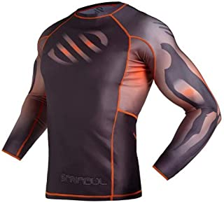 Sanabul Myo Base Layer Long Sleeve Compression MMA BJJ Cross Training Rash Guard