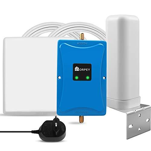 Amplificador de señal LTE 4G Repetidores gsm Movistar Orange Yoigo Vodafone Repetidor gsm 900MHz (Banda 8) LTE 800MHz(Banda 20) para Llamadas y Datos 4G LTE Móviles en Residencias y Edificios