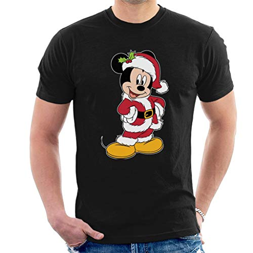 Disney Kerst Mickey Mouse Holly Kerstman pak heren T-Shirt