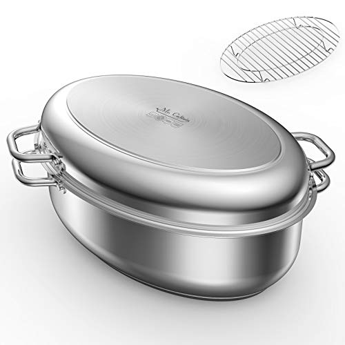 Mr Captain Roasting Pan with Rack and Lid 12 Quart