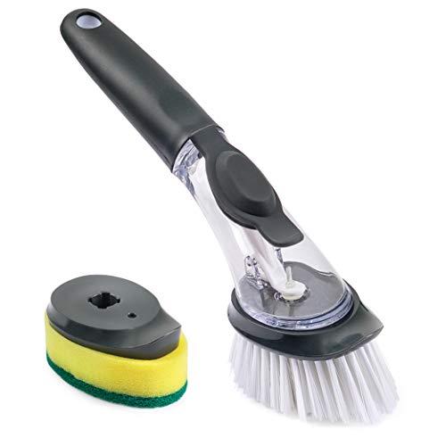Soap Dispenser Dish Scrub Brush and Sponge