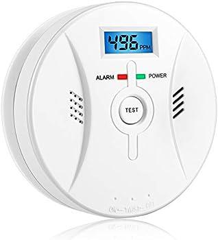 Bqqzhz Combination Smoke & Carbon Monoxide Detector Alarm Digital Display