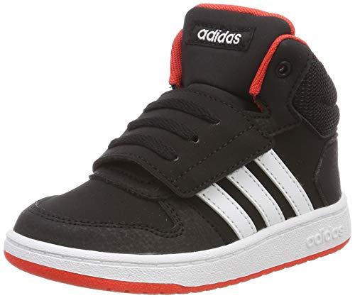 adidas Unisex-Kinder Hoops MID 2.0 I Fitnessschuhe, Schwarz (Negbás/Ftwbla/Roalre 000), 26.5 EU