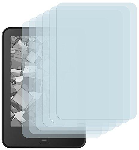 mumbi Schutzfolie kompatibel mit Tolino Vision 2 / Vision / 3HD / 4HD Folie klar, Displayschutzfolie (6x)
