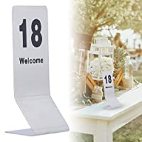 テーブル番号カード、ホテルの卒業式の結婚式のためのエレガントなリサイクルデスクサインスタンド