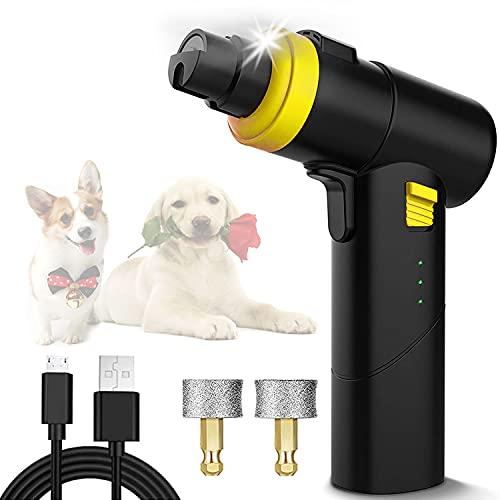 DIWUJI Cuidado de Las Uñas para Perros, Lima de Uñas Eléctrica Mascotas, portátil Amoladora Eléctrica para Perros, Silencio Recortador de Uñas de USB para Perro Gato Mascotas Mediano y Grande