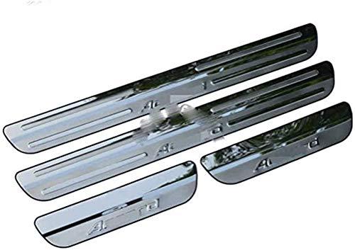 4 Piezas Acero Inoxidable Umbral de puerta Automóvil para Honda Accord 2008 2009 2010 2011 2012, Bienvenidos Pedal Placa Desgaste antiarañazos Accesorios de Coche