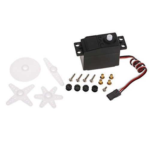 Sharplace Set Moteur Servo3.5kg Voiture Rc 1/10 pour CYS HPI HSP Hobao Savage XS TM Flux MT ZDRacing LRP Traxxas Axial