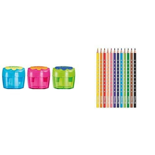 Pelikan 10921112 - Doble sacapuntas + Lápices de colores
