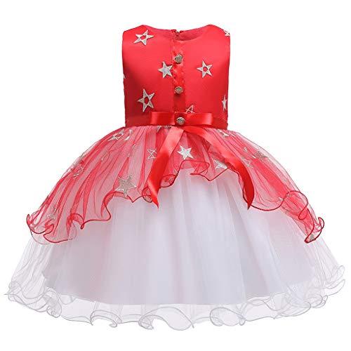 Julhold Kid Kind Meisje Elegant Mouwloos Bloemen Ster Patroon Tulle Prinses Galajurk Party Polyester Kleding 2-10 Jaar