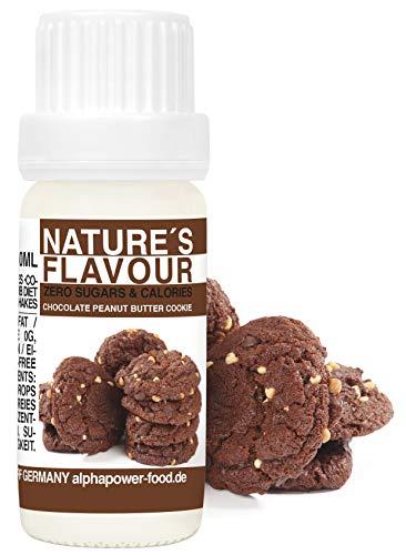 ALPHAPOWER FOOD aroma alimentare - biscotto al burro di arachidi al cioccolato naturale, 1x10ml gocce - liquido Flavdrops - Flavour Drops