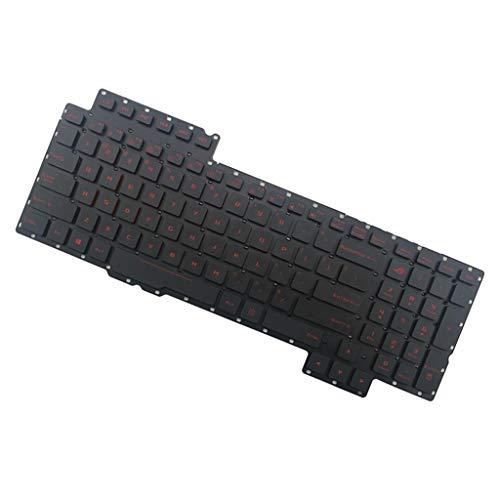 perfk US QWERTY Tastatur Ersatztastatur Ersatzkeyboard für ASUS ROG G752 G752V G752VL Laptop, Hintergrundbeleuchtet